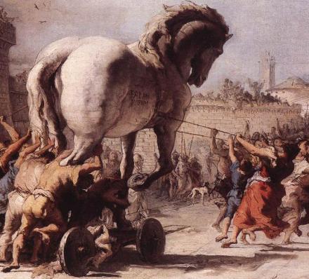 Tiepolo_Il cavallo di Troia